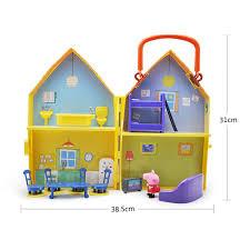 peppa pig jouets poupée scène ré modèle maison pvc d