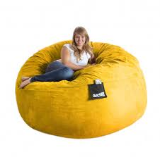 furniture unique yellow bean bag chairs decor for your