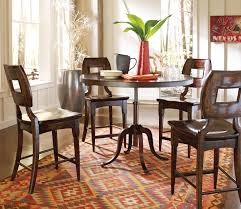 Comfortable Dining Tables Columbus Ohio Designs Classy Height Round Wooden Table With Curve Padestal