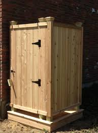 Rustic Outdoor Design With Shower Stall Kits And