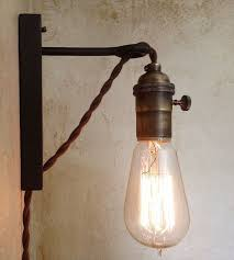 amazing in wall sconce hanging on the iron and glass