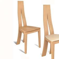 chaise en ch ne massif chaise de salle à manger contemporaine en chêne massif 1400 4