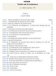 Voltaire Traite Sur La Tolerance 1763 Sommaire