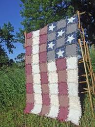 American Flag Rag Quilt Made To Order Wall Lap Rustic Americana Country Farmhouse Decor
