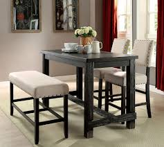 Sania II Counter Height Dining Room Set W Bench