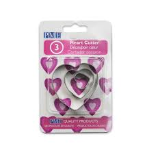 Baking Accessories Set Of Three Heart Shaped Cookie Cutters