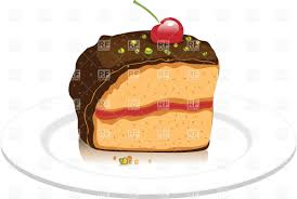 Cherry chocolate cake Royalty Free Vector Clip Art