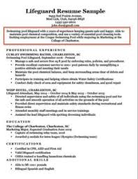 Lifeguard Career Objective Example College Resume