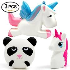 Bekker Jumbo Squishies Unicorn Head Panda Slow Rising Kawaii Animal Scented Charms Stress