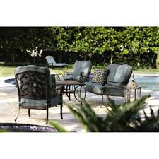 Home Depot Outdoor Dining Chair Cushions home decorators collection madrid bronze 6 piece patio seating set