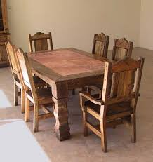 Western Rustic Dining Table Style No Cutouts On Chairs