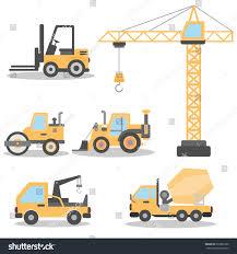 100 Types Of Construction Trucks Different Vehicles Illustration Stock Vector