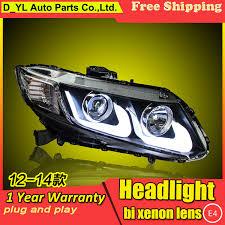 car styling headlights for honda civic 2012 14 led headlight for