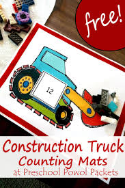 FREE} Construction Truck Counting Packet & Math Activities ...