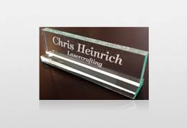 Lasercrafting Engraved fice Name Plates and Holders at