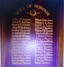 100 Archibald Jones Emlyn Carlisle Melbourne Flintshire War Memorials