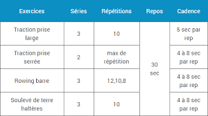 programme musculation dos espace musculation