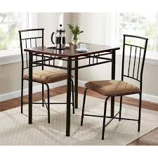 3 Piece Kitchen Table Set Walmart by Mainstays 3 Piece Wood And Metal Dining Set Walmart Com