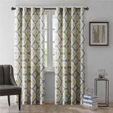 Grey Geometric Pattern Curtains by Bathroom Shower Curtain With Geometric Pattern Yellow White And