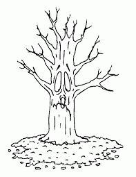 Bare Tree Sad Coloring Page
