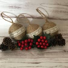 Upcycled Jute Ornaments