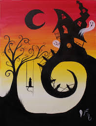 Naperville Halloween House A Youtube by House On Haunted Hill Step By Step Acrylic Painting On Canvas For