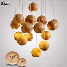 16 heads multi solid wood chandelier modern japanese nordic creative deco living room dining wooden pendantl