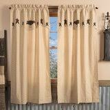 primitive country curtains with wayfair