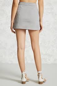 zip front denim mini skirt forever 21 2000064801