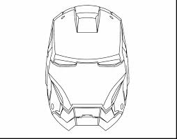 Beautiful Iron Man Mask Coloring Pages With Page And