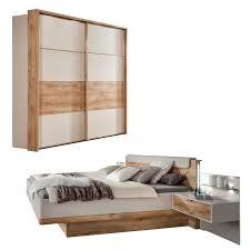 edles schlafzimmer set cataleya in chagner dekor und balkeneichen nb