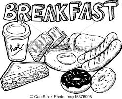 Various Breakfast Food In Doodle Style Eps Vectors Search Clip Art Rh Canstockphoto Com Cute Cartoon Drawings With Faces