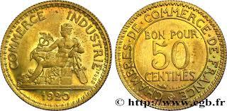chambre de commerce dijon essai de 50 centimes chambres de commerce 1920 f 191 1