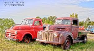 100 Brandywine Trucks 1947 Ford Pickup And Antique Dodge Truck Art Print