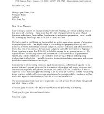 Cover Letter Law Firm For Internship Example Inside Attorney