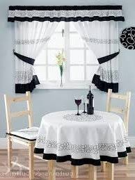 Black White Kitchen Curtains Tiers Beautiful And 1