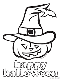 Wonderful Halloween Pages To Print And Color Happy Coloring