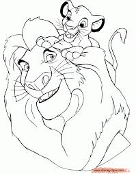 Free Background Coloring Disney Lion King Printable Pages For The