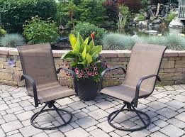 Patio Chair Replacement Slings Amazon by Amazon Com Sienna Swivel Rocker Set Of 2 Garden U0026 Outdoor