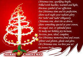 Christmas Tree Short Poems