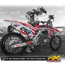 kit deco crf 250 kit déco blackbird réplica team honda gariboldi 2016 fx motors