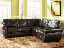 decor marvelous thomasville leather sofa in snazzy brown