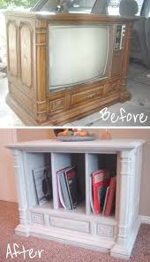 An Old TV Turned Into A Living Room Hutch Easy DIY Furniture
