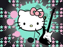 Hello Kitty Rockstar Coloring Pages