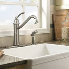 Moen Caldwell Kitchen Faucet Stainless by Shop Moen Wetherly Spot Resist Stainless 1 Handle Deck Mount High