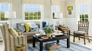 Horizontal Shiplap Wainscot Wraps The Walls In This Provincetown Massachusetts Living Room Where