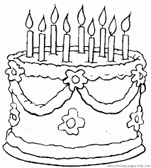 Birthday Cake Coloring Page Printable 11 Color
