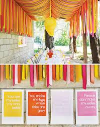 Sunshine Party Crepe Paper Decoration