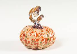 Glass Hand Blown Pumpkins by Home Decor Sculptures House Affair