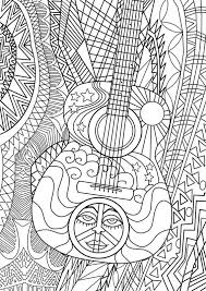 Hippie Coloring Page For Adults